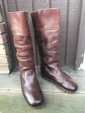Rosita 8637 Womens Sz 7.5M Brown Leather Tall Knee High Fashion PullOn Boots-348
