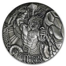 2016 Tuvalu 2 oz Silver Norse Gods Thor BU (High Relief) - SKU #98813