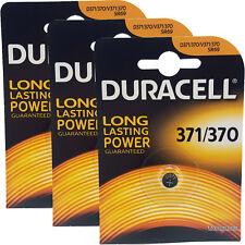 3 x Duracell 370 371 D371 SR69 SR920SW Silver Oxide Watch Batteries