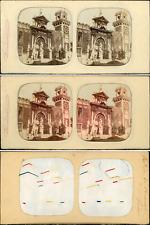 Stéréo, Italie, Venise, entrée de l'Arsenal vintage stéréo card tissue, car