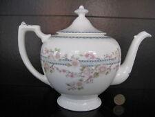 COALPORT LARGE TEAPOT PRETTY APRIL DESIGN ENGLISH TEA PARTY FINE BONE CHINA