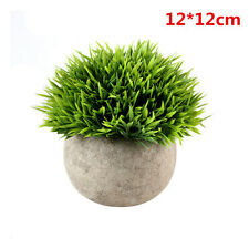 Artificial Fake Green Potted Plants Plastic Tree Home Garden Table Office Decor
