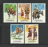 SPAIN (1974) - MNH - Sc# 1794/98  - EDIFIL 2167/71 MILITAR UNIFORMS