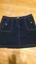 Skort Navy Blue Womens Skort Cotton Spandex Karen Scott Size 14