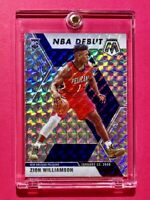 Zion Williamson SILVER REFRACTOR ROOKIE MOSAIC PRIZM 2019-20 NEW ORLEANS RC Mint