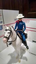 Marx Lone Ranger 12 inch Action Figure with Silver Customized Set