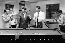 The Rat Pack Playing Pool Photograph 36x24 Music Art Print Poster