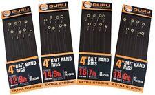 GURU READY TIED BAIT BAND / PELLET WAGGLER RIGS HOOKS TO NYLON - THE FULL RANGE