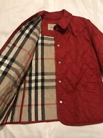 Genuine Burberry Girls Quilted Jacket Red  12 Years