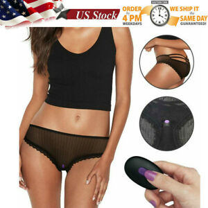 Strap on LACE Bullet Vibrator Invisible Panties Wireless Wearable Women