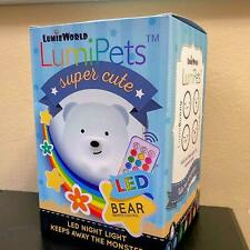 Led Nursery Night Lights for Kids: LumiPets Cute Bear with Remote