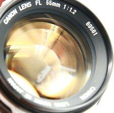 FAST CANON FL 55mm f1.2 F1.2 55/1.2 FAST BRIGHT MANUAL FD LENS FOR A1,AE1,F1