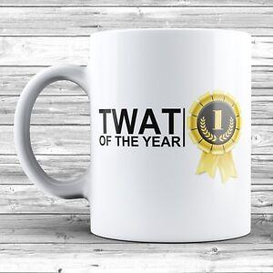 Tw*t Of The Year Mug Novelty Ceramic 11oz Funny Gift Rude Joke Office