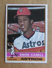 1976 TOPPS BASEBALL ENOS CABELL #404 AUTOGRAPHED SIGNED CARD HOUSTON ASTROS