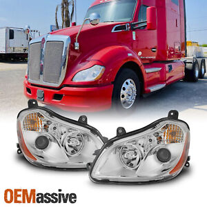 For 2013-2019 Kenworth T680 OE Projector Headlights Headlamp Pair Replacement