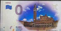 BILLET 0  EURO SIENA ITALIE  COULEUR  2019 NUMERO DIVERS