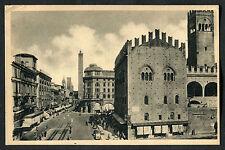 C1920s View of People & Cars: Palazzo Re Enzo: Via Rizzoli: Bologna