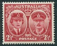 AUSTRALIA 1945 2 1/2d lake SG209 mint MH FG Duke and Duchess of Gloucester #W36