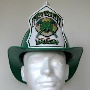 Texaco Helmet Irish Firefighter St Patricks Day Crossed Axes