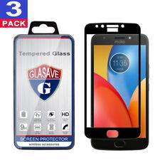 "3Pack GLASAVE Motorola ""MOTO E4 Plus"" FULL COVER Tempered Glass Screen Protector"