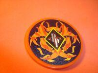 BIOHAZARD-FLAMES design Poker Chip Golf Ball Marker-Card Guard 11.5 gm Orange