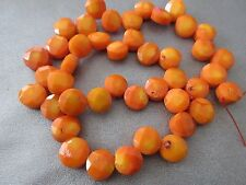 Bamboo Coral Faceted Coin Beads 42pcs
