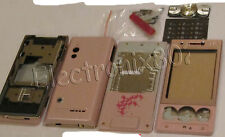 Case Fascia Housing Back Battery Cover Keypad For S. Eric W705 W715 Pink UK