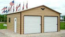 Steel 2 Car Garage 24x31 Metal Building A-Frame Workshop FREE DELIVERY SETUP CA