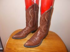 Women's JUSTIN L4955 Coffee Saltillo Leather Western Cowboy Boots Size 9B