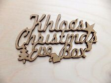 Personalised MDF wooden 'Christmas Eve Box' blank craft topper  10cm x 5.5cm
