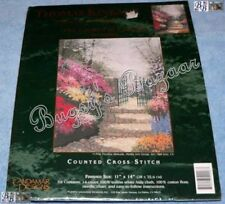 Candamar THE GARDEN OF PROMISE Counted Cross Stitch Picture Kit - Kinkade 50926