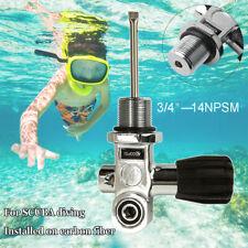 "Underwater Scuba Diving Dive DIN Tank K Valve 3/4"" - 14 NPSM Thread 4500Psi"