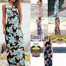 Women Summer Boho Dress Floral Sleeveless Evening Party Beach Maxi Long Sundress
