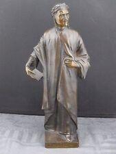 alte Bronzefigur Dante , Else von Beck ca. um 1910