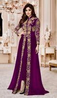 Pakistani Heavy Indian Bollywood Anarkali Wedding Party Gown Salwar Kameez Suit