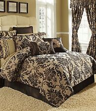 One Croscill Home Florence Reversible Chocolate and Tan Euro Pillow Sham New