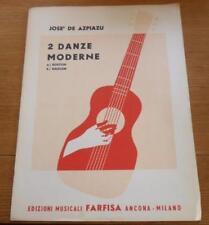 José De Azpiazu 2 Danze Moderne A. Boston B. Harlem 1962 Edizioni Farfisa Milán