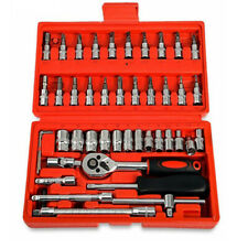 46Pcs Spanner Socket Set 1/4 inch Screwdriver Ratchet Wrench Car Repair Tool Kit