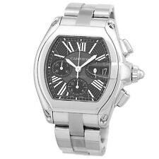 4a5a2dbbfaa CARTIER Stainless Steel Roadster XL Chronograph Automatic Box Warranty MINTY