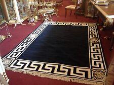 Seiden Teppich barock Gold-Schwarz 230x160cm medusa Versac mäander Carpet