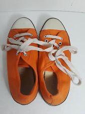 JUICY Sneakers Ladies Orange/White Canvas Lace Up Sport Tennis Shoes Womens 7.5