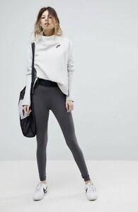 Nike High Waisted Leggings In Dark Grey