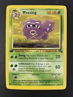 MINT/NM 1st Edition Weezing 45/62 - Fossil Set Non-Holo Pokemon Card PSA Ready