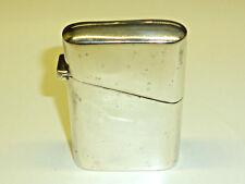 ART Deco Lighter W. English 925 Sterling Silver Case-Birmingham-Inghilterra-RARE