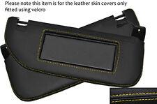 Jaune stitch 2x pare-soleil peau cuir couvre fits CITROEN DS3 2009-2014
