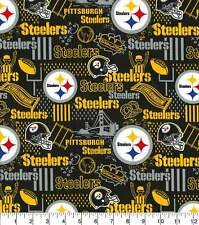 NFL PITTSBURGH STEELERS HOME LOGO COTTON FABRIC READY TO SHIP 1/2 YARD - 18 X 44