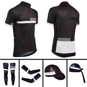 MTB Cycling Men Bike Jerseys Sports Caps Bicycle Headwear Arm Sleeve Leg Warmers