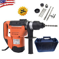 "1-1/2"" SDS Electric Rotary Hammer Drill Plus Demolition Variable Speed w/Bits US"