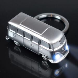 VW Bulli T1 LED Schlüsselanhänger | SILBER Metall | Volkswagen Lizenzware