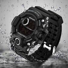 Men LED Digital Date Alarm Waterproof Sports Military Army Quartz Wrist Watches